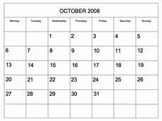 Editable Calander Editable 2008 Blank Calendar