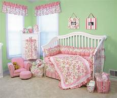stunning baby crib bedding designed in magenta color