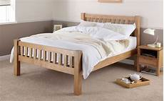 silentnight ayton solid oak wooden bed frame mattress