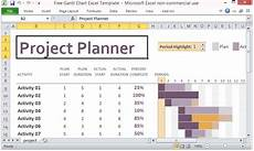 Project Scheduling Excel Free Gantt Chart Excel Template