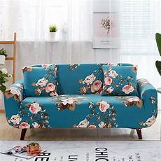Teal Sofa Table 3d Image by Teal Blue Cherry Blossom Pattern Sofa Cover Decorzee