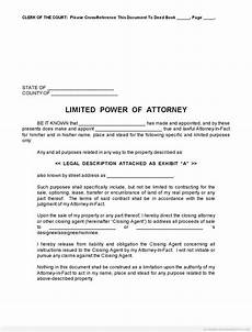 Special Power Of Attorney Sample Free Printable Limited Power Of Attorney Forms Sample