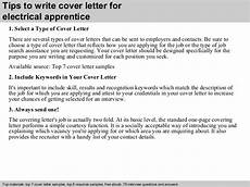 Electrician Apprentice Cover Letters Electrical Apprentice Cover Letter