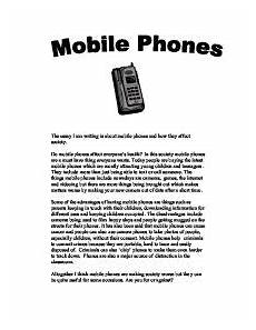 Persuasive Essay Cell Phones Essay About The Cell Phones