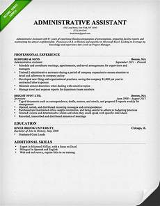 Administrative Assistant Objective Sample Administrative Assistant Amp Executive Assistant Cover