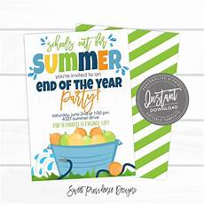 Summer Party Invite End Of School Summer Party Invite Sweet Providence Designs