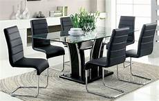 glass dining room sets glenview black glass top dining room set from furniture of