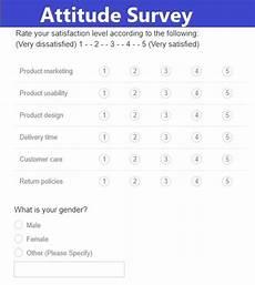Attitude Survey Template Attitude Survey Templates 3 Free Word Excel Amp Pdf Samples