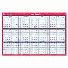 At A Glance Yearly Calendar At A Glance Erasable 36 Quot X 24 Quot Yearly Wall Calendar Bj S