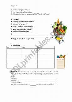 Making A Grocery List Worksheet Making A Shopping List Esl Worksheet By J729