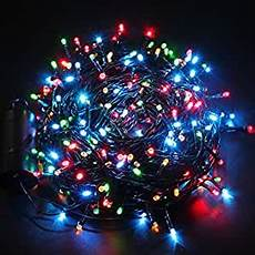 A String Of 15 Christmas Tree Lights Excelvan 131ft 300 Led Multi Coloured Battery Operated 8