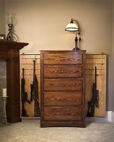 chest of drawers with compartments to hide guns and