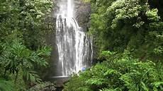 tropical island waterfall stock footage video 2912671