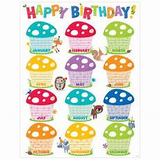 School Birthday Calendar Happy Birthday Chart Woodland Friends Ctp5281