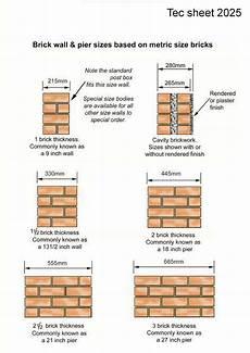 Standard Brick Size Chart Brick Driveway Image Brick Dimensions Chart Uk