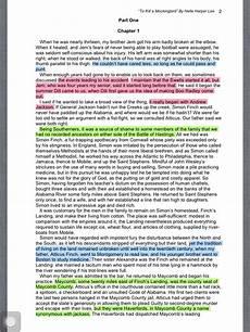 To Kill A Mockingbird Chapter 7 Summary To Kill A Mockingbird Chapter 1 And 2 To Kill A