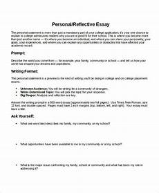 Personal Reflection Essay Example Personal Reflective Essay