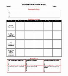 Printable Toddler Lesson Plans Free 10 Sample Preschool Lesson Plan Templates In Google