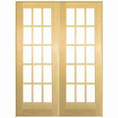 doors interior home depot masonite 60 in x 80 in smooth 15 lite hollow