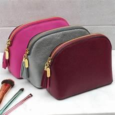 personalised leather makeup bag hurleyburley
