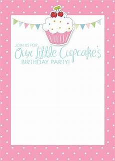 Blank Birthday Invitation Templates Cupcake Birthday Party With Free Printables How To Nest