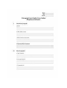 Schaffer Essay Format 5 Paragraph Schaffer Essay Outline Doc Name Date
