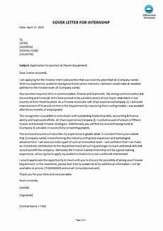 Cover Letter For Finance Internship Cover Letter For Finance Internship Templates At