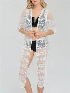 sleeve kimono for snaps see through snap front lace kimono chic242281 withchic