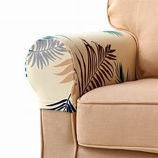 Womaco Stretch Fabric Sofa Slipcover Png Image by Leaves Printed Stretch Armrest Covers Set Of 2