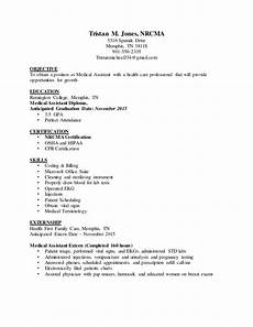 Ma Resumes Examples T Jones Ma Medical Assistant Resume