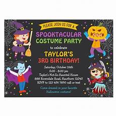 Costume Party Invites Personalized Halloween Birthday Invitation Costume Party