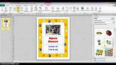 Making Flyers Online Free Publisher 2010 Creating Flyers From Templates Youtube