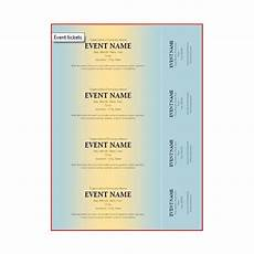 Numbered Event Tickets The Best Event Ticket Template Sources