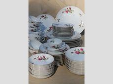 vintage Japan moss rose china, pink roses porcelain