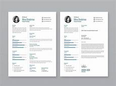 Portfolio And Resumes Free Simple Illustrator Resume Template With Cover Letter
