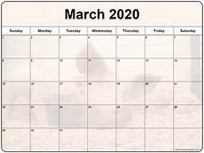 March 2020 Calendar Printable Collection Of March 2020 Photo Calendars With Image Filters
