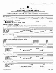 Free Lease Application Form Free Texas Rental Application Form Pdf Eforms Free