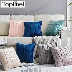 topfinel velvet striped decorative throw pillow cover