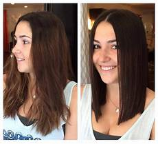 before and after haircut and gloss by salon of