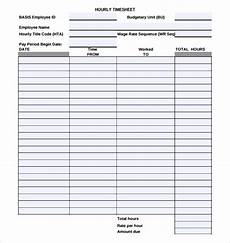 Hourly Sign Up Sheet Template 18 Hourly Timesheet Templates Free Sample Example