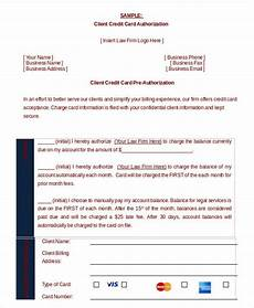 Pre Authorization Credit Card Credit Card Authorization Form Template 10 Free Sample