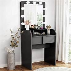 tribesigns vanity table set with lighted mirror make up