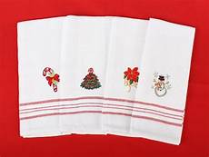 Christmas Tea Towel Embroidery Designs Embroidered Holiday Kitchen Tea Towel Sales