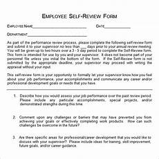Employee Assessment Sample Free 14 Sample Employee Self Evaluation Forms In Pdf Ms