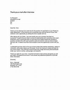 Thank You Letter For Interview Opportunity 40 Thank You Email After Interview Templates Template Lab