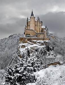 alcazar castle in winter segovia spain segovia