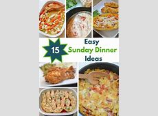 15 Easy Sunday Dinner Recipes   Mommy's Fabulous Finds
