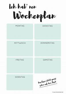free print wochenplan zum ausdrucken wochen planer
