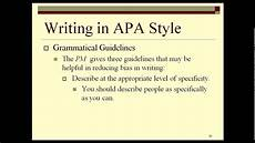 How To Write In Apa Style Examples How To Write Apa Style Report Youtube