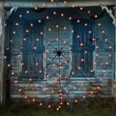 Target Halloween Spider Lights Halloween Spider Web Light Set 7 Ft Halloween Outdoor